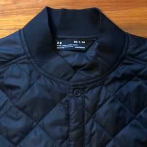 under armour, coldgear, quilted jacket, black, S